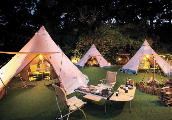 호텔·식당, 텐트·바비큐 서비스…도심서 캠핑 즐기세요