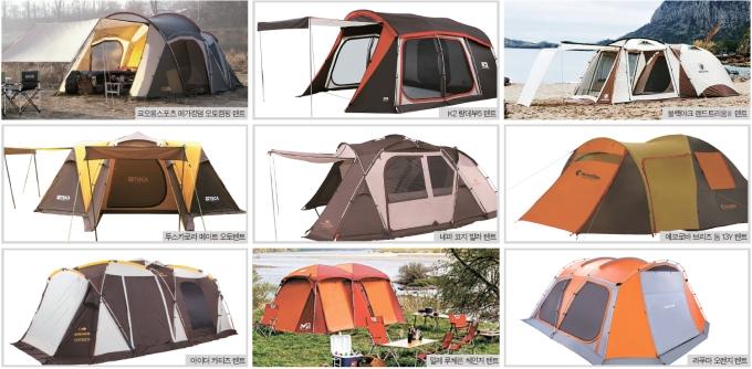 주방·거실·침실 원하는 대로 쉽게…텐트는  트랜스포머